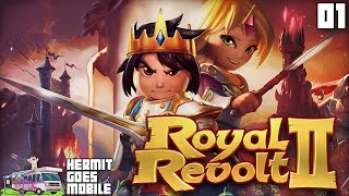 Hermit Goes Mobile - ROYAL REVOLT 2 Part 1!!! iOS Android 1080p HD walkthrough