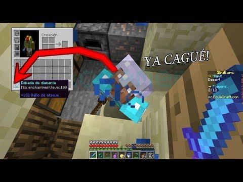 👉 SKYWARS ¡TENGO LA ESPADA CON FILO 100 Y MATA DE UN GOLPE!! - Minecraft