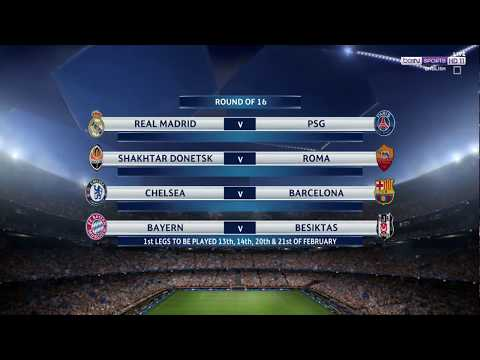 CHAMPIONS LEAGUE DRAW-PSG TAKE ON REAL MADRID, BARCA TO PLAY CHELSEA