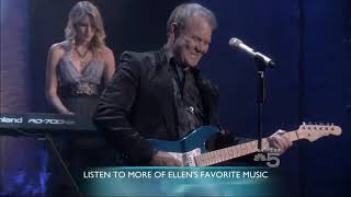 """Glen campbell his two sons & daughter ashley perform """"wichita lineman"""" live on ellen, after performance ellen talks with ashley."""