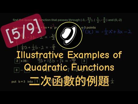 [5] - Illustrative Examples of Quadratic Functions 二次函數的例題
