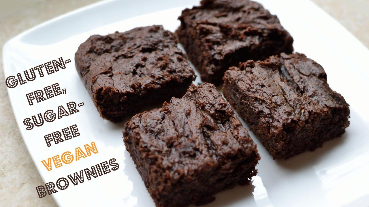 Gluten-Free, Sugar-Free Vegan Brownies - YouTube