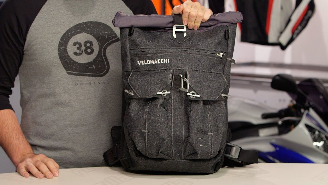 fd94ba1632 Velomacchi Roll-Top Backpack 28L Review at RevZilla.com - YouTube