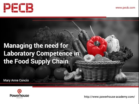 Managing the need for Laboratory Competence in the Food Supply Chain