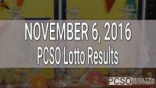 PCSO Lotto Results November 6, 2016 (6/58, 6/49, Swertres & EZ2)