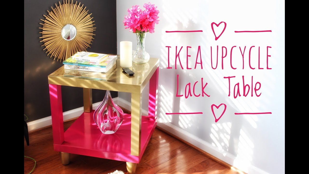 DIY | IKEA Hack | Lack Accent Table | Super Easy U0026 Cheap   YouTube
