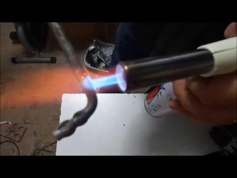 gas torch burn metal -- hard metal bending - metal bükme