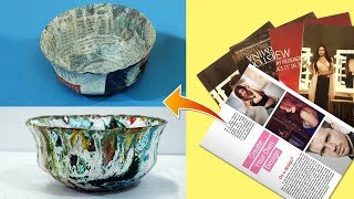 Wow! Old Newspaper से बनाये ये सुन्दर Bowl | Easy Best Out of Waste Craft | Newspaper Craft Ideas
