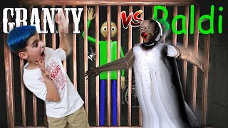 GRANNY LOCKED BALDI IN HER JAIL! Granny vs Baldi Horror Game