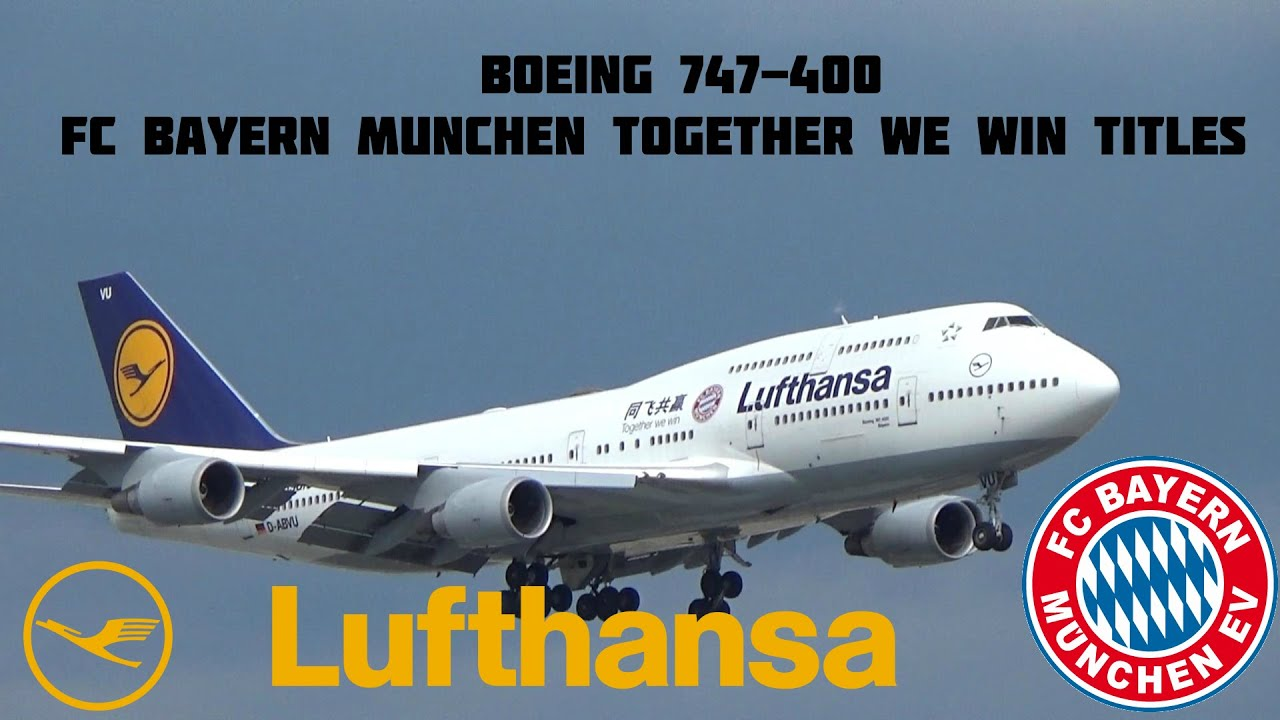 lufthansa fc bayern munchen together we win titles landing