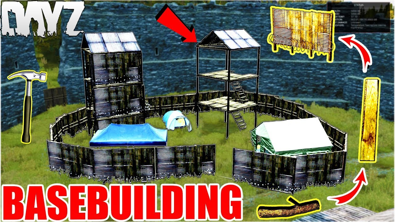 Dayz SA 0 63 CrackZ Basebuilding Guide How to Craft : Walls, Fences