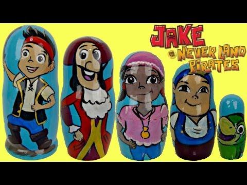 Jake and the Neverland Pirates Nesting Matryoshka Dolls | Toys Unlimited