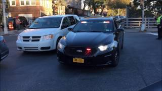 NYPD HIGH RANKING OFFICIAL RESPONDING URGENTLY TO A MAJOR NYPD POLICE INCIDENT.