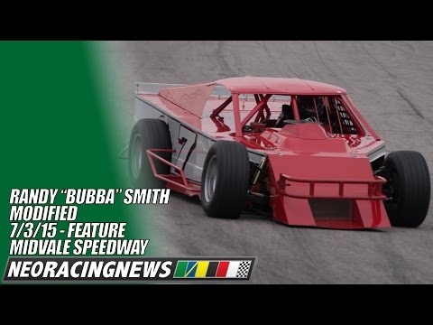 """Randy """"Bubba"""" Smith Modified Feature Win at Midvale Speedway - 7/3/15 - NEO Racing News"""