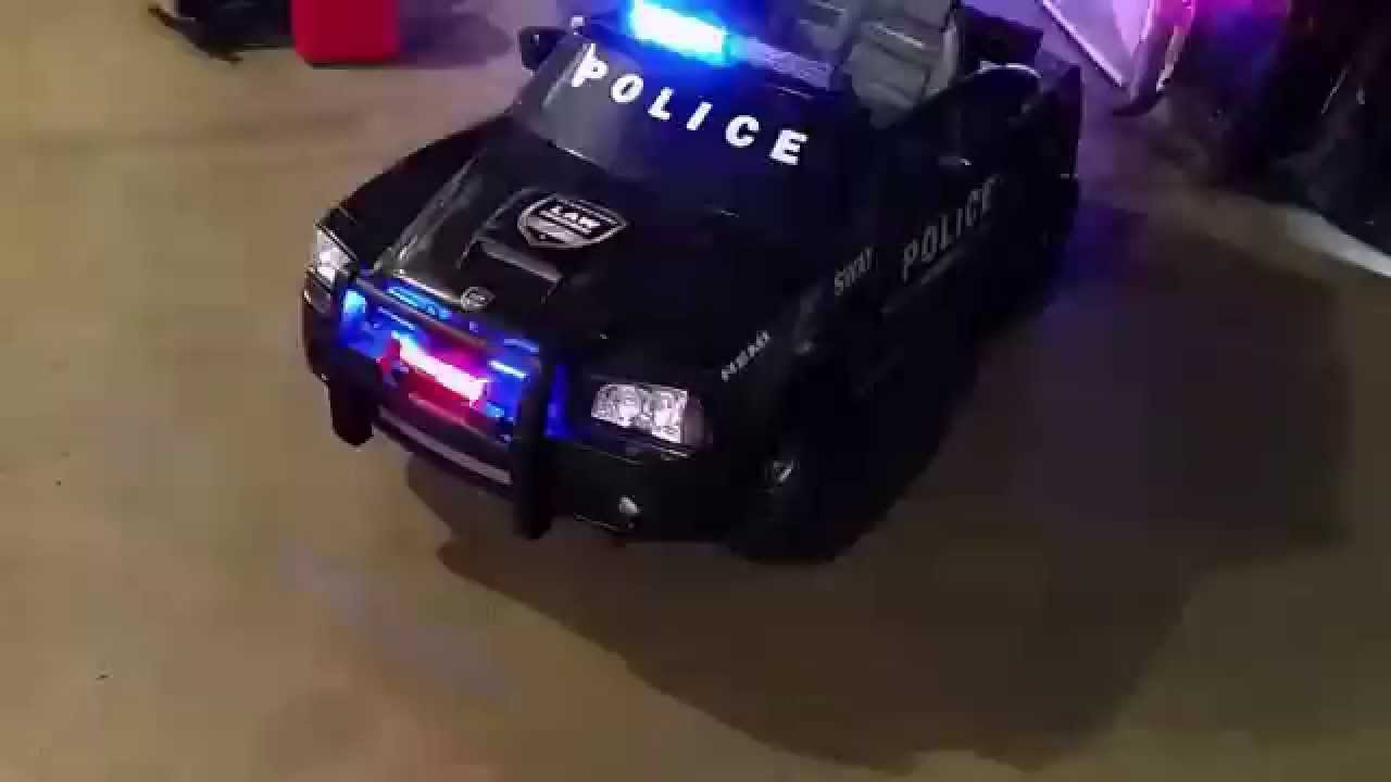 Power Wheels Police Car With Real Lights!!