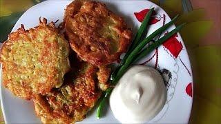 Деруны (драники) картофельные оладьи рецепт potato pancakes recipe