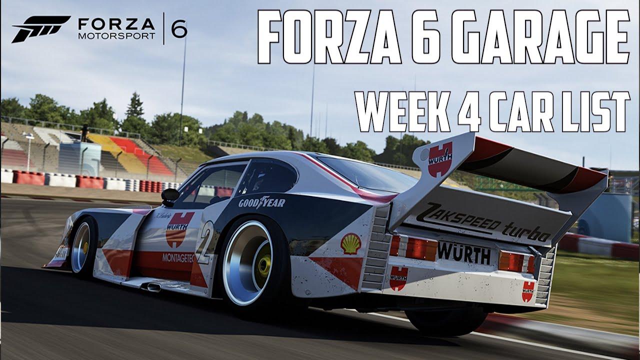 Forza 6 Garage Week 4
