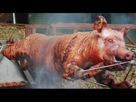 Grilled Pig - Roast Pig at Hotel Cambodiana Event Party | Oktoberfest Cambodia 2014