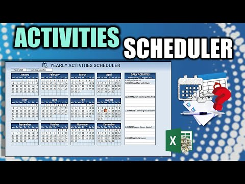 Learn How To Create This Yearly Activity Scheduler In Excel [FREE Download Inside]