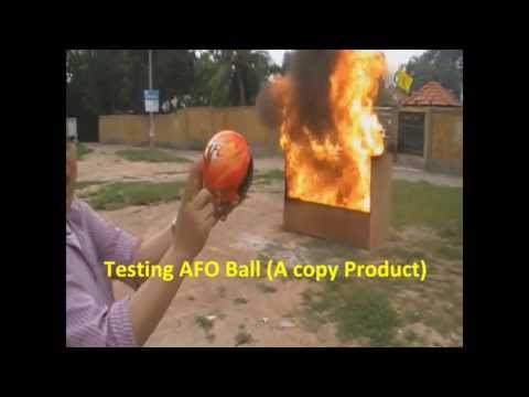 Elide Fire Ball (Genuine) VS AFO Ball (A copy)