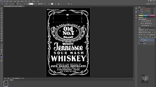 How to make Jack Daniels logo in Photoshop QUICK & EASY