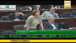 Treni Milano-Brescia: Sorte se ne deve andare! - Iolanda Nanni in aula (10/5/2016)
