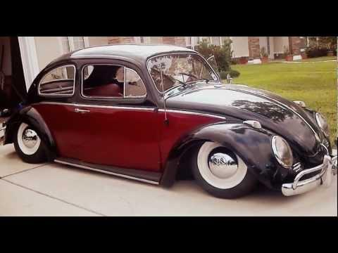 1962 vw beetle on air bags