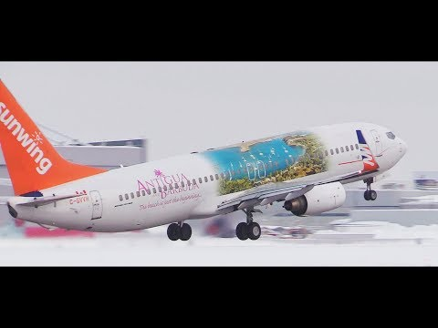 *ANTIGUA* Livery Sunwing Boeing 737-8Q8 Montreal to Cancun Flight WG519