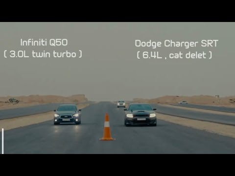 Charger SRT Fights Infiniti Q50 In Unexpected Rolling Race