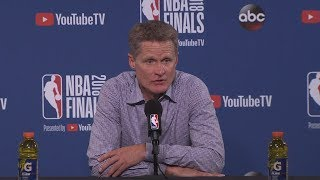 Steve Kerr Postgame Interview - Game 1 | Cavaliers vs Warriors | May 31, 2018 | 2018 NBA Finals