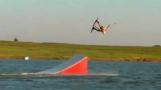 Taylor Kress pro rider - Mute Double Half Cab Roll [HD] (slow motion) wakeboarding