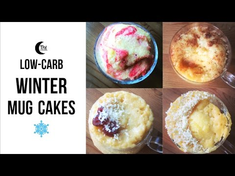 Keto Winter Mug Cakes LowCarb Holiday Microwave Cakes 1