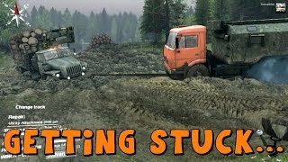 Spin Tires | Stuck, Unstuck and Stuck Again! The Hill | Solo Run | Part 3
