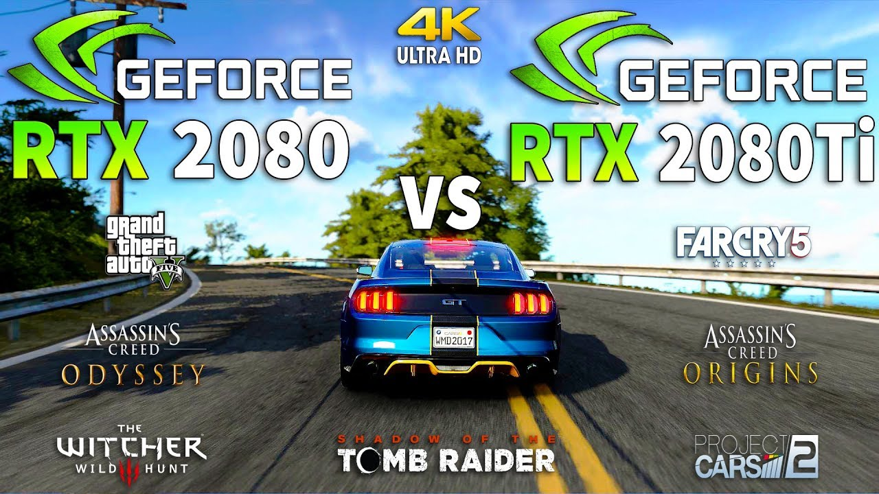RTX 2080 vs RTX 2080 Ti Test in 7 Games 4K (i7 8700k)