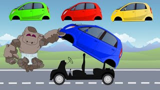 Learn Colors with Mini Cars Tata Nano | Small Auto Street Vehicles for Kids | बच्चों के लिए वीडियो