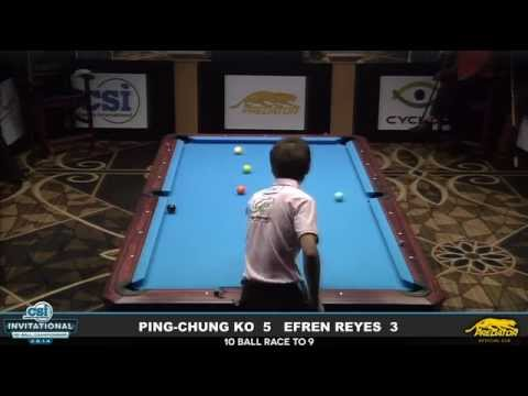 2014 CSI 10 Ball Invitational: Reyes vs Ping-Chung Ko (2)
