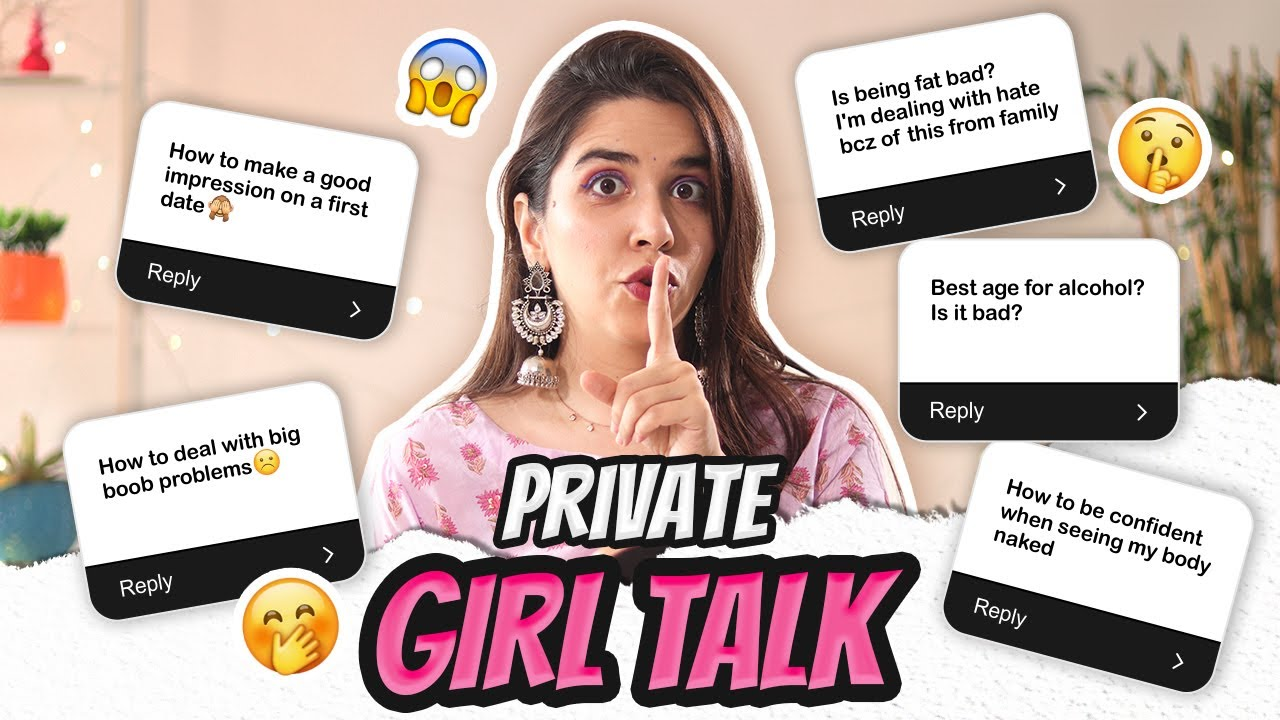 PRIVATE 🤫 GIRL TALK! TMI QnA on Periods, Big Boobs, Dates & MORE + Get Ready With Me! | Heli Ved