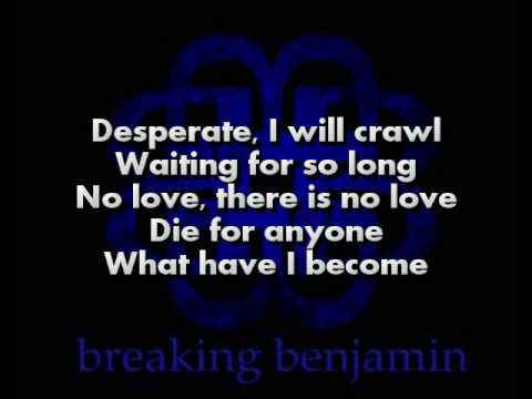 Breaking Benjamin - The Diary Of Jane Acoustic (Lyrics on screen)