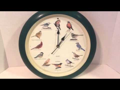 1997 MFA Original Singing Bird Clock 13 5 Green FAST SHIPPING Watch Video!!