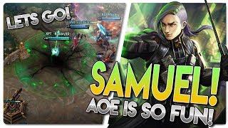 SAMUEL MID LANE AOE MENACE!! Vainglory 5v5 Gameplay - Samuel |CP| Mid Lane Gameplay