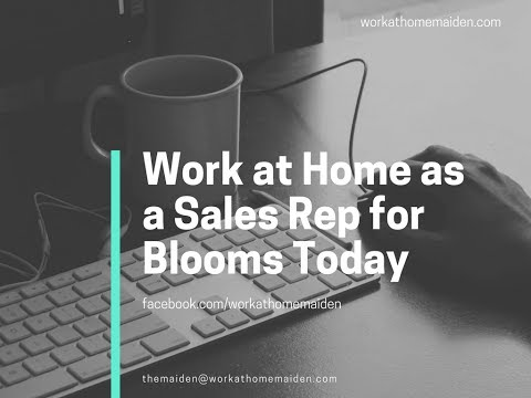 One Job Minute: Work at Home Sales Rep for Blooms Today