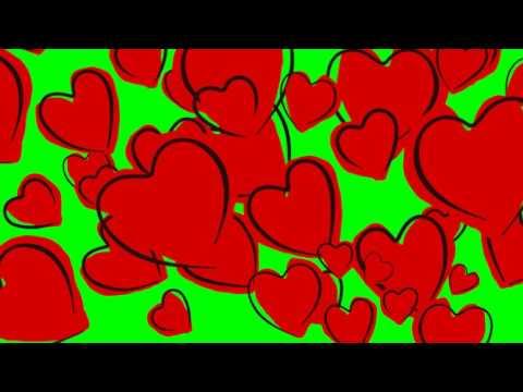 Valentine's Day Hearts (ChromaKey Green BG)