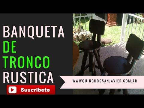 IDEAS TABURETE DE MADERA BANQUETA RUSTICA DE MADERA Y TRONCOS ALTAS IDEAL BAR BARRAS DESAYUNADOR