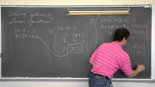 Solving Linear Systems with Substitution and Linear Combination (Simultaneous Equations)