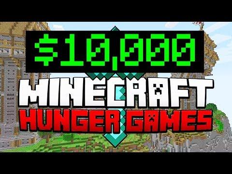 WINNING $10,000 on #MinecraftMondays ! (Hopefully) Minecraft Hunger Games