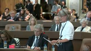 Grenfell Tower survivors demonstrate at first post fire council meeting
