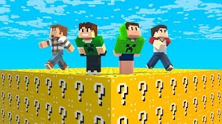 DESAFIO LUCKY BLOCK COM AMIGOS no MINECRAFT !!