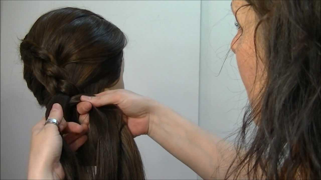 Trenza de raiz invertida en diagonal suelta o recogida,pedido Monica Lopez , YouTube