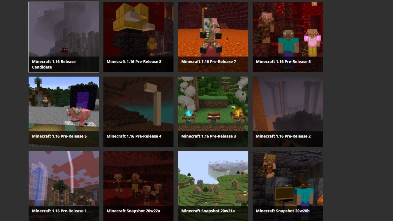 Top 9 Minecraft Versions - YouTube