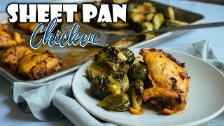 Sheet Pan Peri Peri Chicken with Brussels Sprouts | Easy Keto Dinners